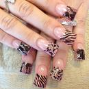 Lace And Animal Print Nails!