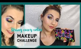 Using Every Color In The Palette Challenge / Urban Decay Electric Palette