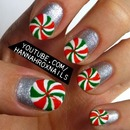 Peppermint Nail Art
