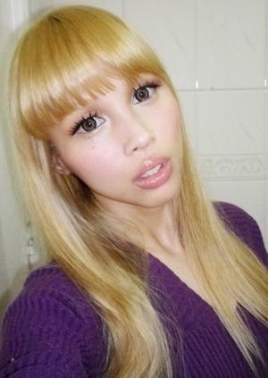 Thefaceshop lashes and geo princess mimi grey lenses