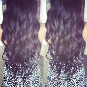 long hair curled like mermaid hair