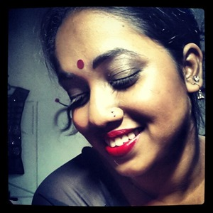 Make up was inspired by one of Vidya Balan's look