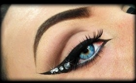 Cat Eye with Rhinestones