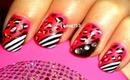 Hot Pink Cheetah Nails