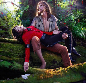 In honor of MJ's birthday I wanted to post two images from a series I worked on with David LaChapelle. Mama Makeup Sharon Gault did MJ in this photo and I did all of the beard work and fx for Jesus