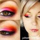 Rose et orange flamboyant
