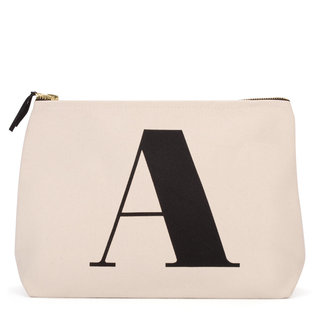Natural Wash Bag Letter A