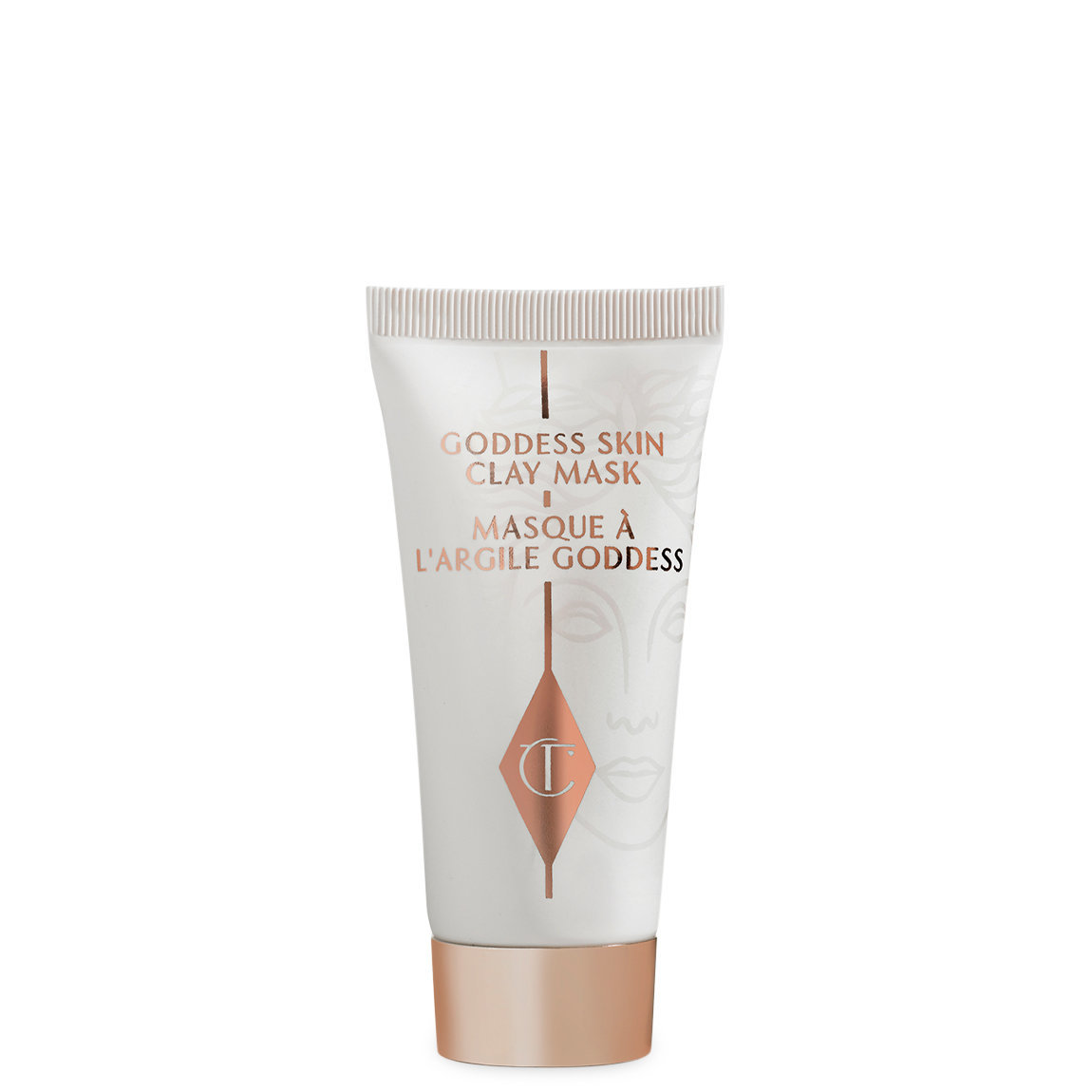 Charlotte Tilbury Goddess Skin Clay Mask Travel Size product swatch.