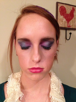 Playing with a few of the new eyeshadow colors From Jane Iredale on my brother's g/f