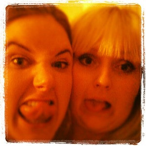Goofing around with my friend before a girls night out ;)