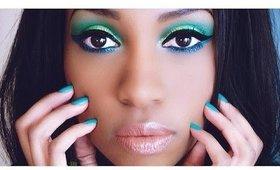 • Maquillage aux couleurs du brésil   Brazil makeup tutorial 2014
