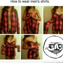 How to wear a boy's shirt