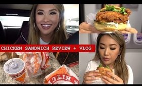 POPEYES CHICKEN SANDWICH + WHICH IS BEST | WORK TALK | hollyannaeree