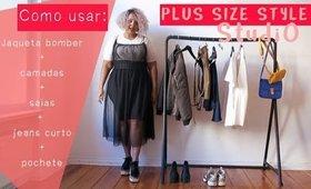 """Plus size: Como se vestir! Jaqueta bomber, vestido transparente, pochete, estilo """"baddie"""""""
