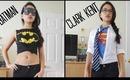 Last Minute Halloween Costumes {Batman and Clark Kent}