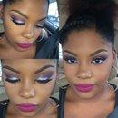 Purple eyes and bold lips