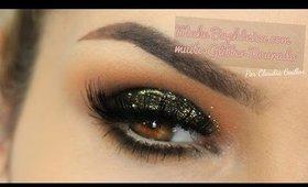 Make Baphônica com Glitter Dourado por Claudia Guillen