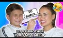 LITTLE BROTHER DOES MY MAKEUP | Maryam Maquillage