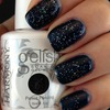 Sparkly Navy Blue Gel Nails