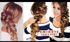 2-MINUTE Fancy Pony-Braid Hairstyle ★ Easy SUMMER HAIRSTYLES