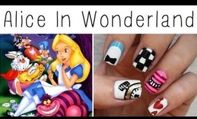 Alice In Wonderland Nail Art!