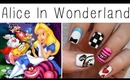 Alice In Wonderland Nail Art!