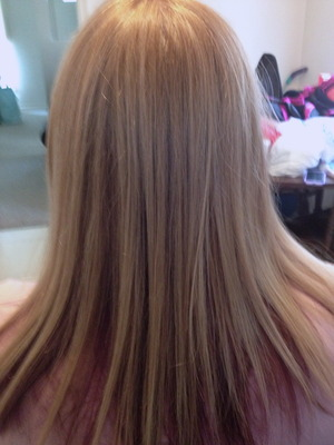 Highlight Low Lights blonde and Purple by Christy Farabaugh