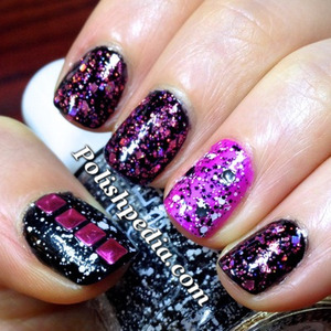 Do you love these nails?  See how they were done @ http://polishpedia.com/fuchsia-glitter-splatter-nails.html