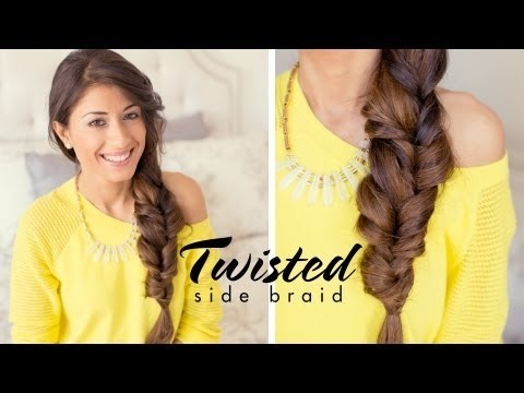 twisted side braid luxyhair video beautylish. Black Bedroom Furniture Sets. Home Design Ideas