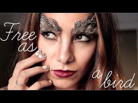 Bird Halloween Makeup.Easy Halloween Makeup Nails Free As A Bird Lynette Cenee Video Beautylish