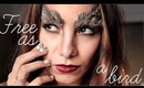 "Easy Halloween Makeup & Nails: ""Free as a bird"""