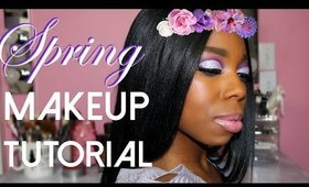 Spring Makeup Tutorial Collab with PrettyInHTown | Cut Crease