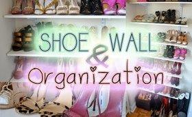Katie's Bliss   Shoe Wall & Organization