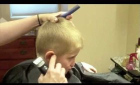 How to do a Kids Haircut: Little Boys Clipper Cut: Clipper over Comb