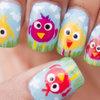 Cute birdy nail art