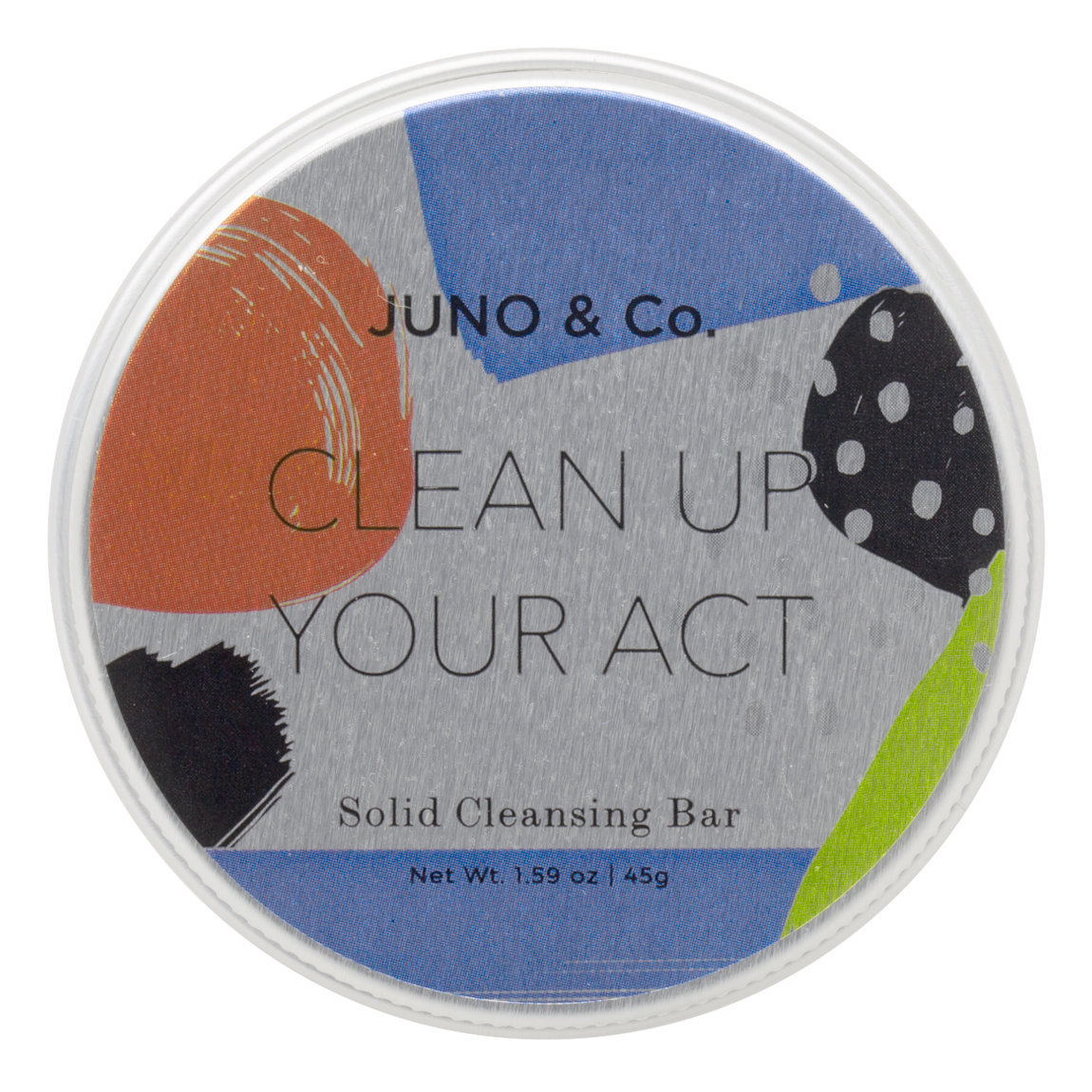 JUNO & Co. Clean Up Your Act Solid Cleansing Bar product smear.