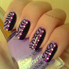 Purple Abstract Nail Art