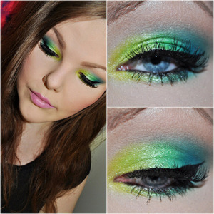 Just a colorful look using the new Sleek i-Candy palette! (: