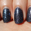 Layered Glitter Black'N'Blue