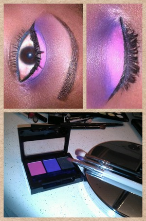 Purple cut crease and pink lid