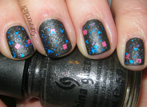 China Glaze Stone Cold, Lush Lacquer Slumber Party and Hard Candy Matte-ly In Love top coat