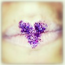 Heart shaped lips