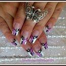 Lavender Monochrome Nail Art