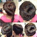 Starburst fishtail braided bun