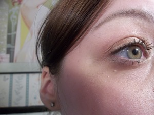 Gold eyes! Perfect to compliment green eyes :)