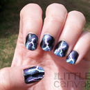 Lightning Bolt Nail Art