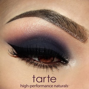 """Eye Primer: Deluxe-size lifted eye shadow primer by #tartecosmetics Eyeliner: Aqualillies Amazonian Clay Waterproof Liner in BLACK by #tartecosmetics (my first MATTE gel liner & I love it) Mascara: lights, camera, lashes 4-in-1 mascara in BLACK by #tartecosmetics  Brow bone & tear duct: White shimmery eye shadow from """"call of the wild Amazonian clay 8-shadow collector"""" Palette by #tartecosmetics Crease : Pink shimmery eye shadow  same palette Top SOCKET(in the image says """"crease"""" instead of): Grey matte eye shadow  same palette Mobile eyelid: Dark blue matte eye shadow same palette Lower Lashes: Mix of gold & copper shimmery eye shadows  same palette Waterline: first apply full-size aqua-gel eyeliner in brown by #tartecosmetics and then set it with Red shimmery eye shadow from """"call of the wild Amazonian clay 8-shadow collector"""" Palette by #tartecosmetics"""