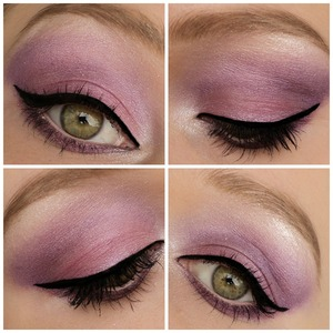 I made this look with the E.L.F. palette in 'party purple'. I thought it looked really 'fairy' like. Check out my blog If you like: http://themakeuphotspot.nl/