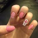 strawberries and cream nails