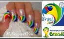 FIFA WORLD CUP NAIL ART SUMMER 2014 BRAZIL